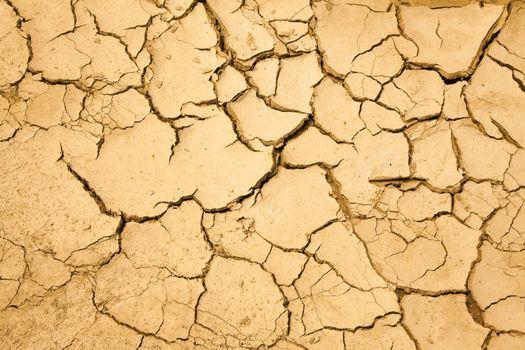 dry season with cracked ground