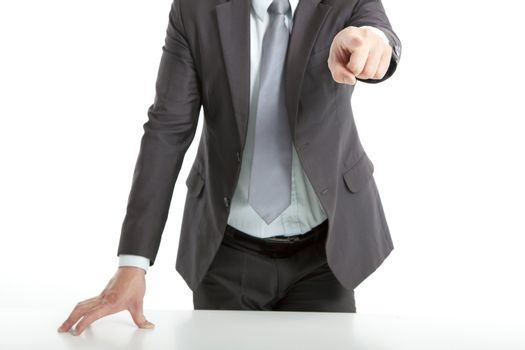 hand of businessman pointing you