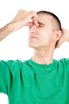 Man have migraine attack