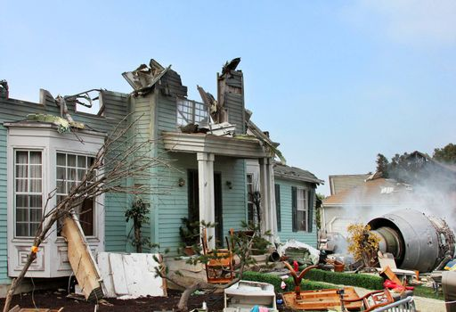 House damaged by disaster