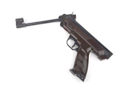 Pneumatic pistol isolated