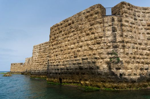 The view of historic sea walls