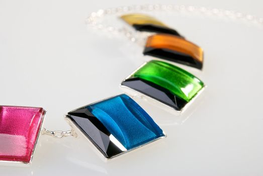 Part of colorful necklace