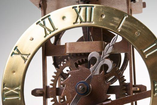 Antique looking clock dial