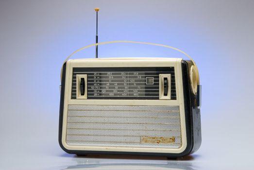 Old-fashioned radio receiver