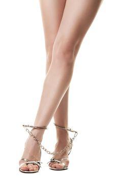 Handcuffed female legs
