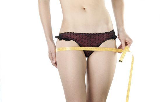 Woman body measured