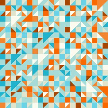 Geometric seamless pattern with triangles and squares