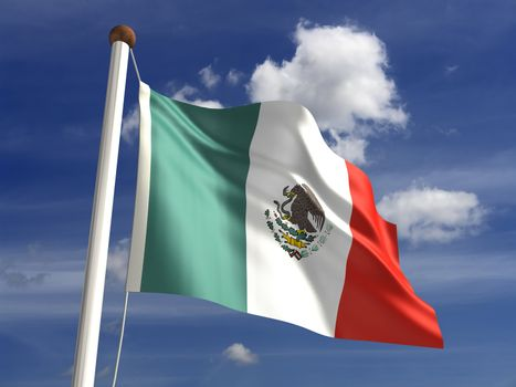 3D Mexico flag (with clipping path)
