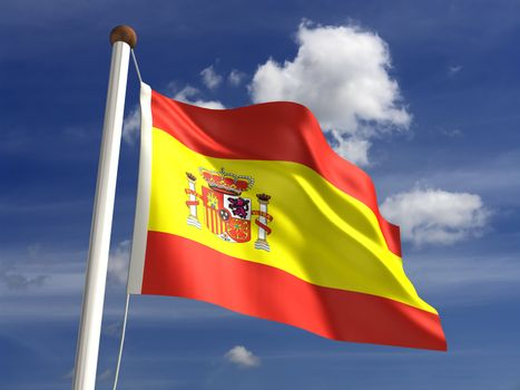 3D Spain flag (with clipping path)