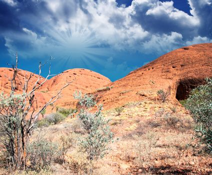 Landscape of Australian Outback in Northern Territory