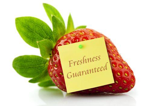 Freshness guaranteed strawberry