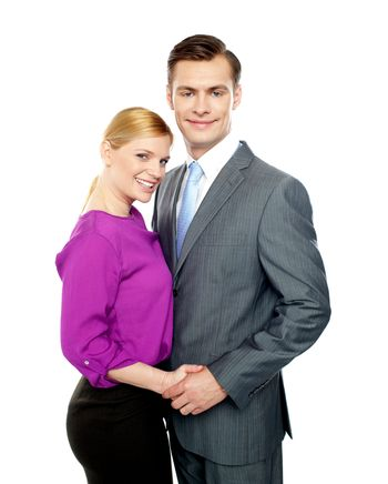 Young business people in love