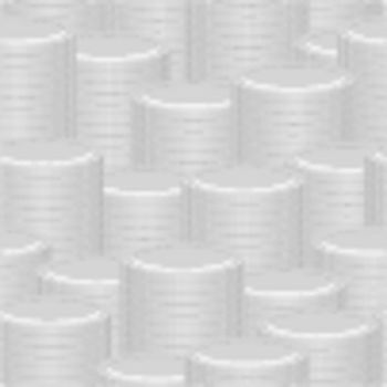 Abstract vector seamless background - a stacks of silver coins