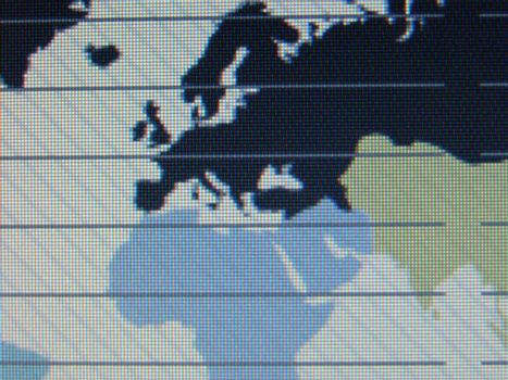 world map macro on tft screen