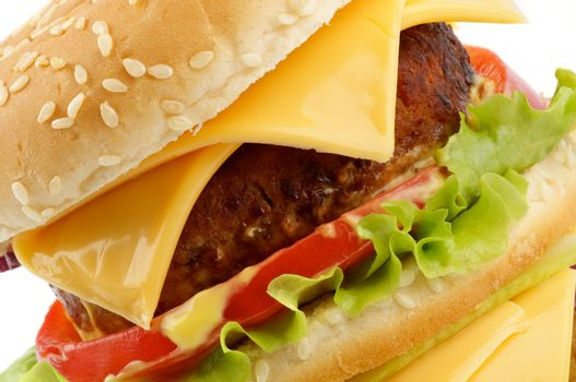 Tasty Cheeseburger clipping path