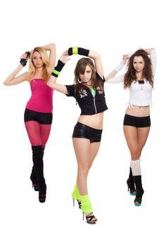 Modern ballet of four dancers posing for photo
