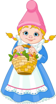 Garden Gnome with basket