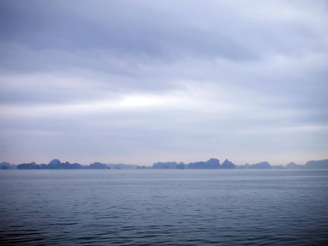 Island and Sea in Halong Bay, Vietnam