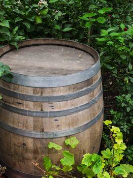 rustic wooden barrel