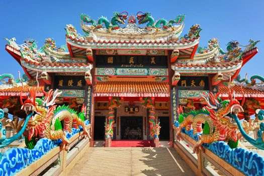 The facade of the Chinese Temple - entrance