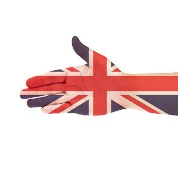 UK flag on hand
