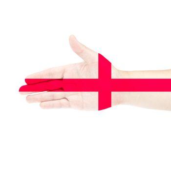 England flag on hand