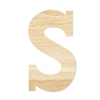 Letter S from wood board