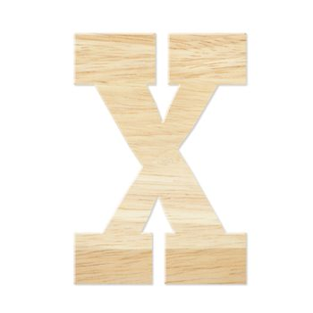 Letter X from wood board