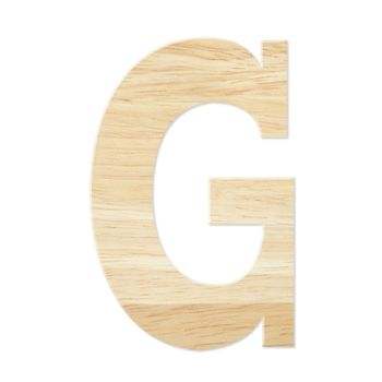 Letter G from wood board