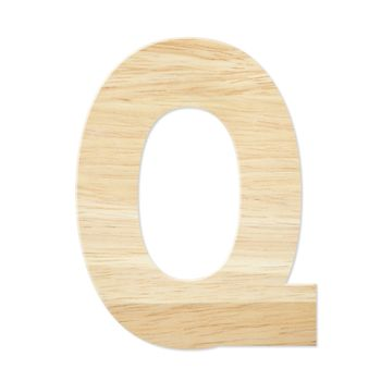 Letter Q from wood board