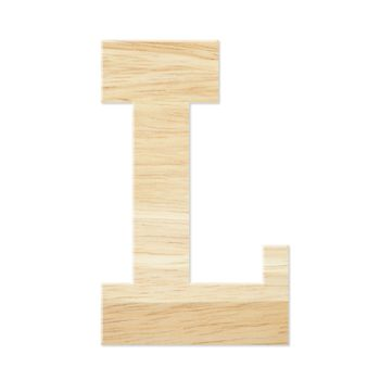 Letter L from wood board