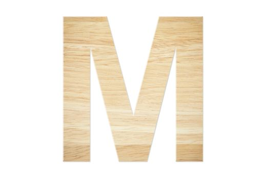 Letter M from wood board