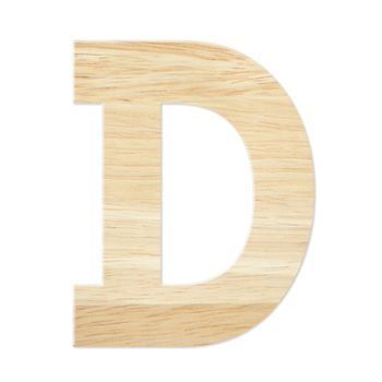 Letter D from wood board