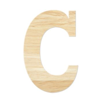 Letter C from wood board
