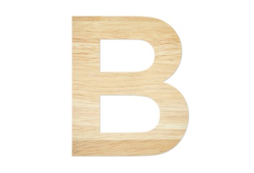 Letter B from wood board