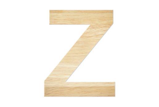 Letter Z from wood board