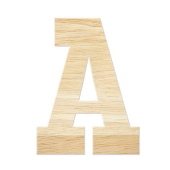 Letter A from wood board