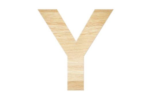 Letter Y from wood board