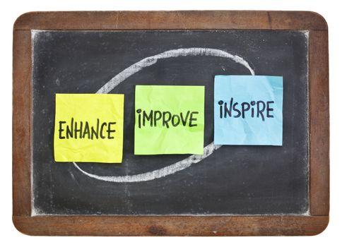enhance, improve, inspire on blackboard