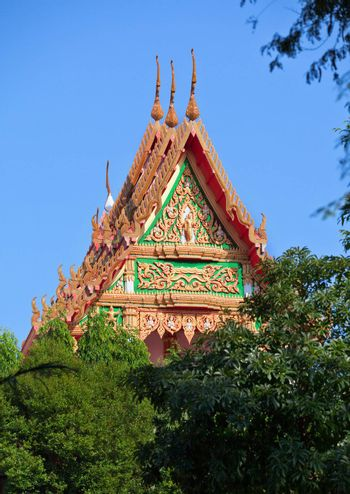 The roof of the Thai Monastery - view from afar