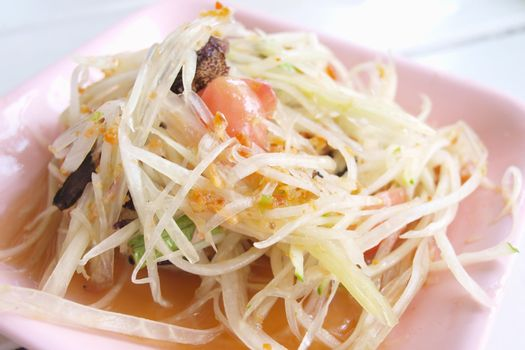 Somtum or Green Papaya Salad is the most popular dish in Thailan