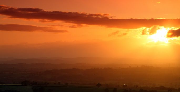 Sunet over the Honiton Moor