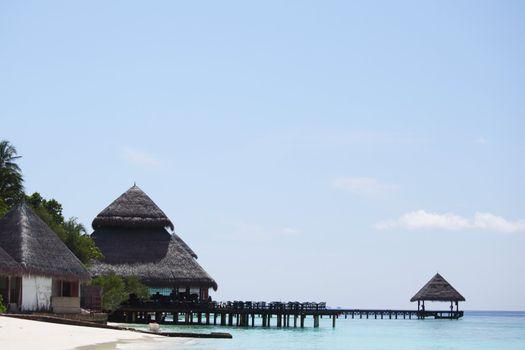terrace houses on the beach