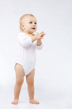 Portrait of lovely baby studio shot