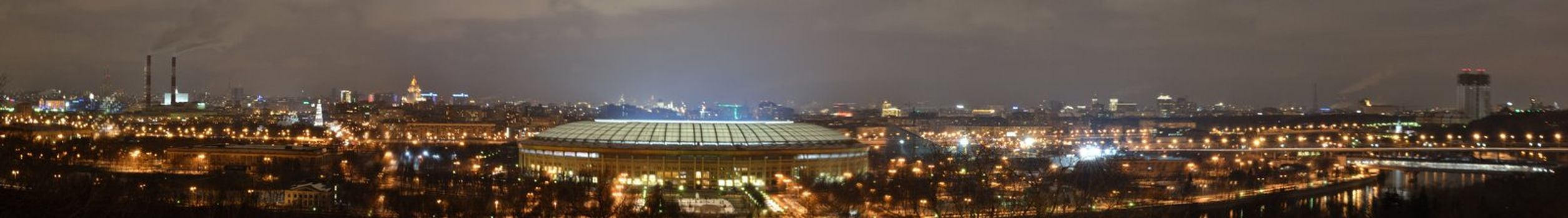 The Luzhniki Olympic Complex in Moscow