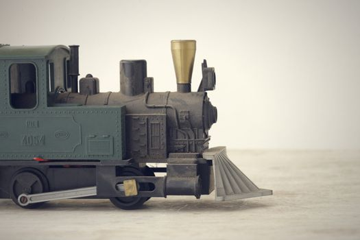 Scale Model of an Old Fashioned Locomotive Steam Train