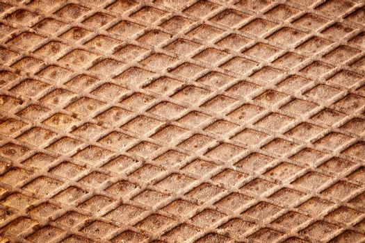 The surface of rusty metal deck - the background