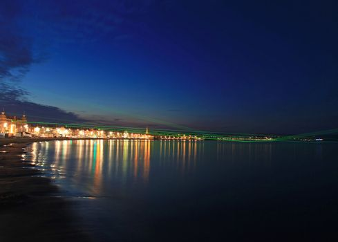 Weymouth Lazers over seafront in dorset