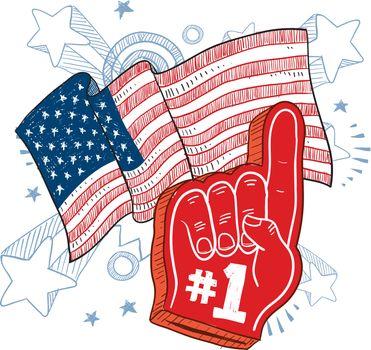 American patriotism - color